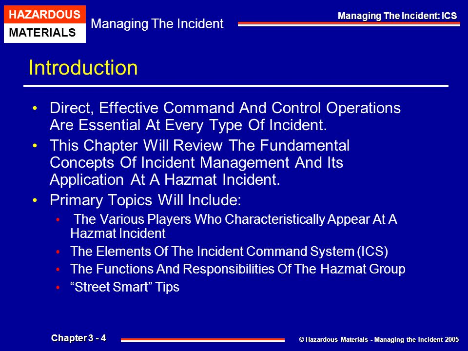 Introduction Direct, Effective Command And Control Operations Are Essential At Every Type Of Incident.