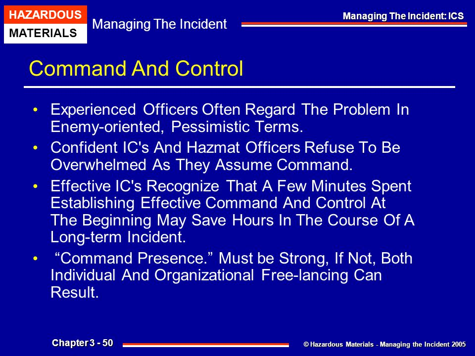 Command And Control Experienced Officers Often Regard The Problem In Enemy-oriented, Pessimistic Terms.