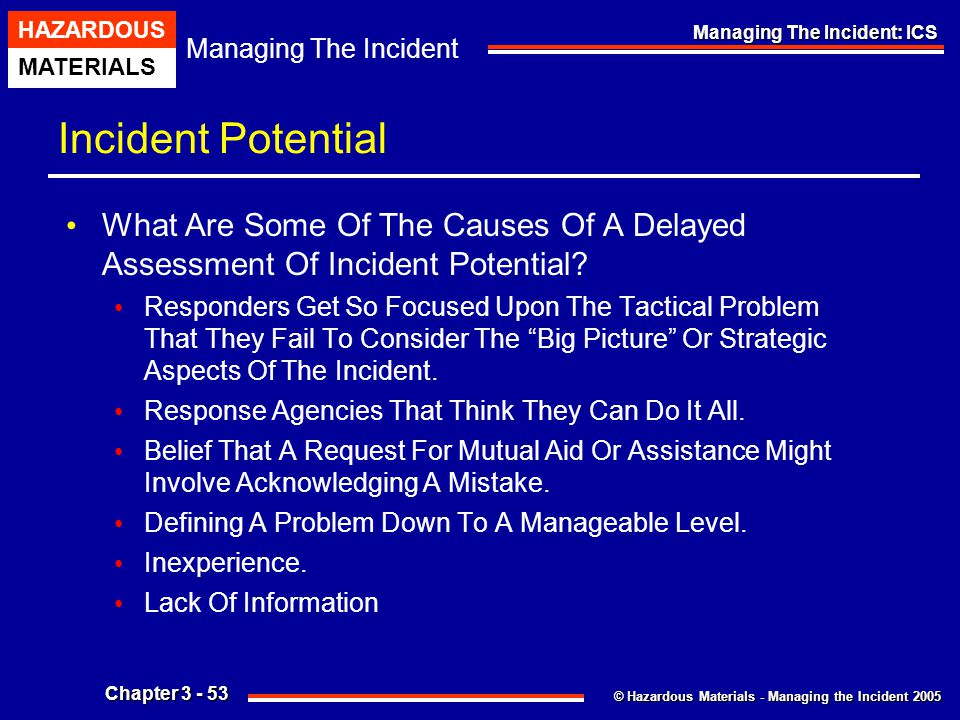 Incident Potential What Are Some Of The Causes Of A Delayed Assessment Of Incident Potential