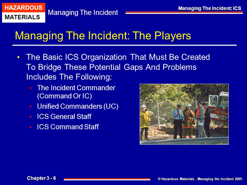 Managing The Incident: The Players