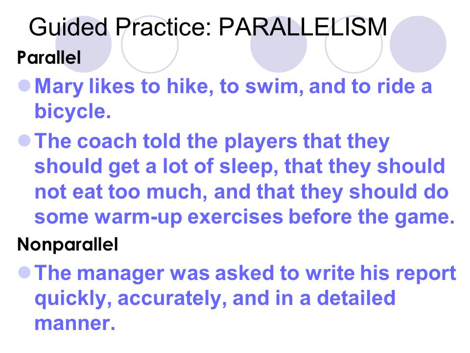 Guided Practice: PARALLELISM