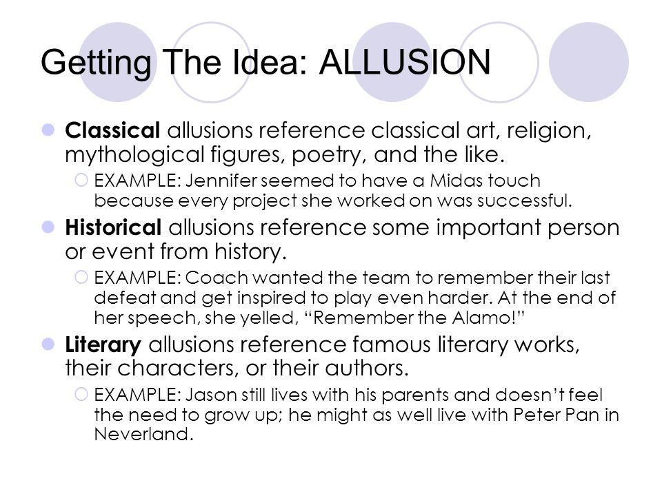 Getting The Idea: ALLUSION