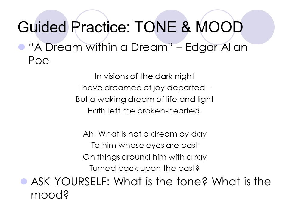 Guided Practice: TONE & MOOD