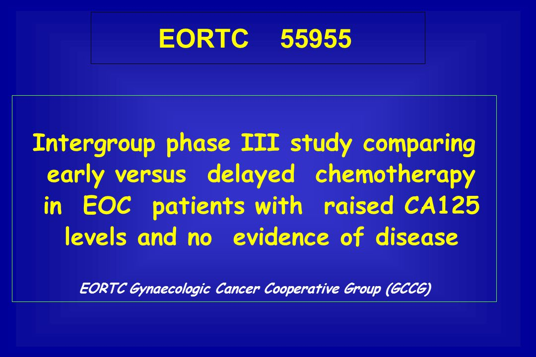 EORTC Gynaecologic Cancer Cooperative Group (GCCG)