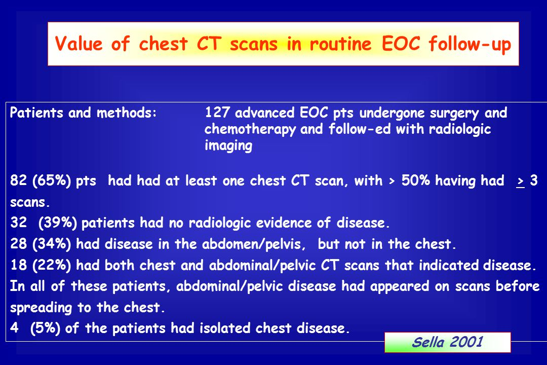 Value of chest CT scans in routine EOC follow-up