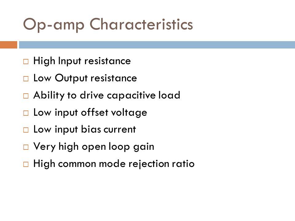 Op-amp Characteristics