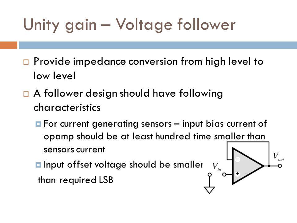 Unity gain – Voltage follower