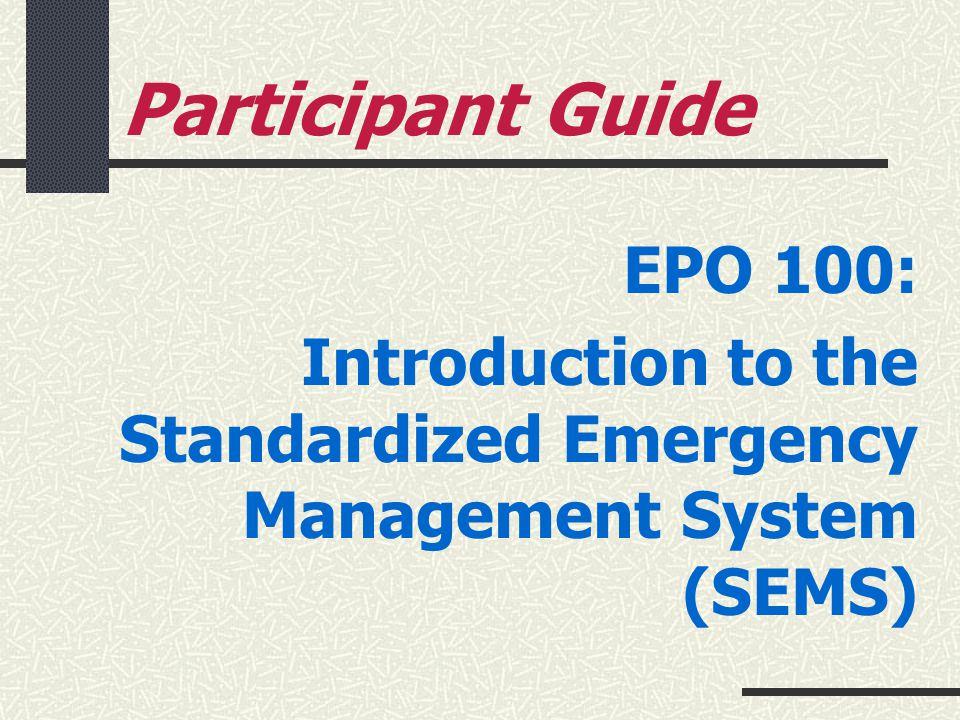 Participant Guide EPO 100: