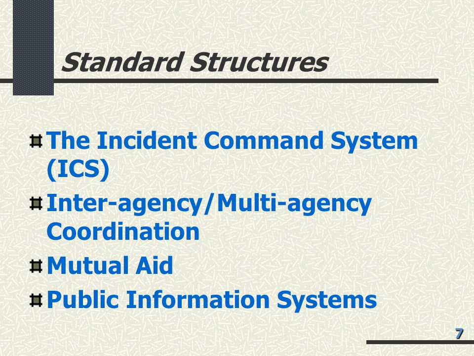 Standard Structures The Incident Command System (ICS)
