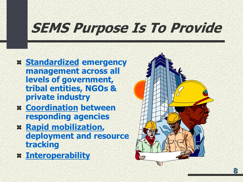 SEMS Purpose Is To Provide