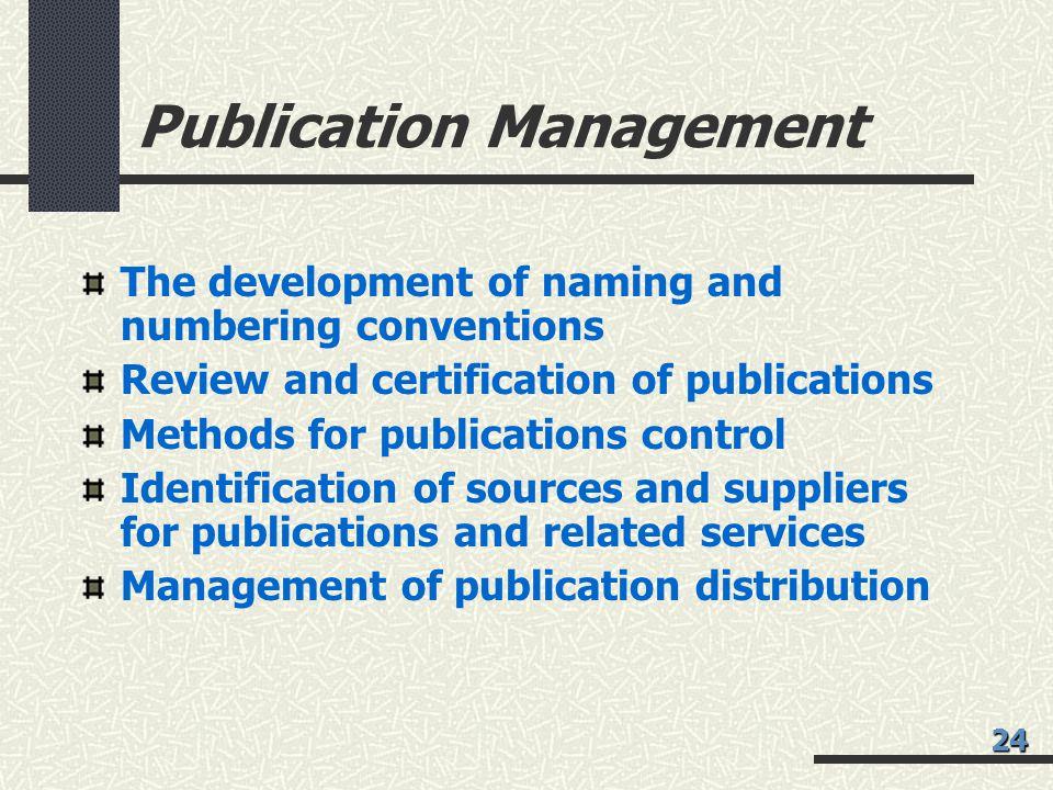 Publication Management