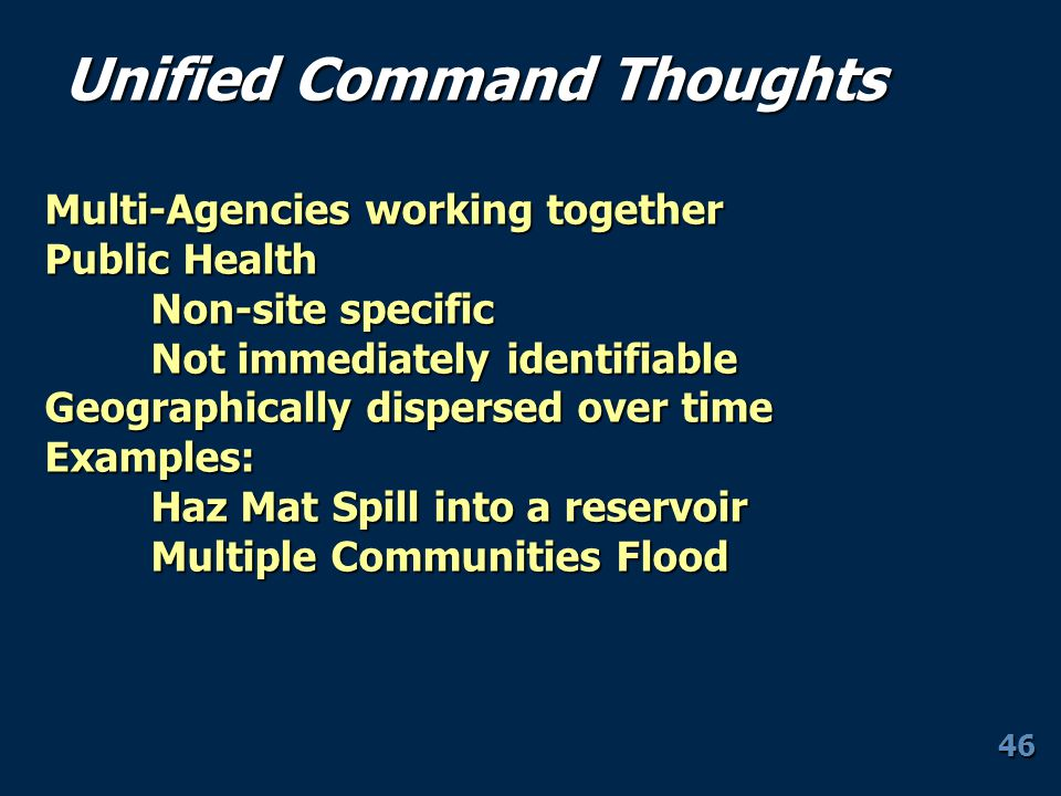 Unified Command Thoughts