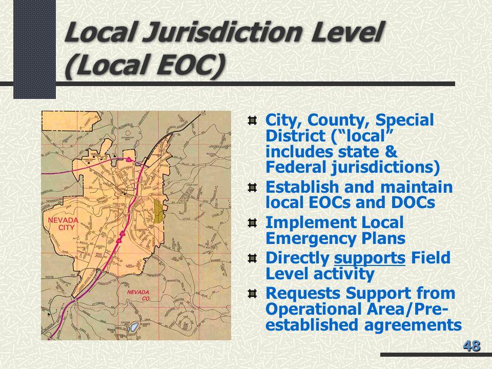 Local Jurisdiction Level (Local EOC)
