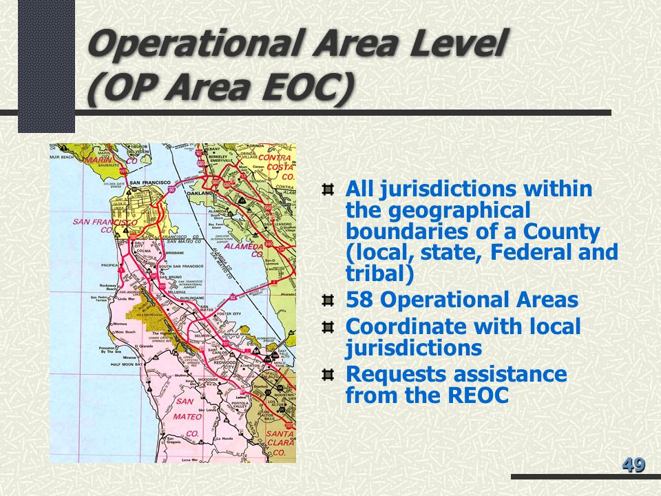 Operational Area Level (OP Area EOC)