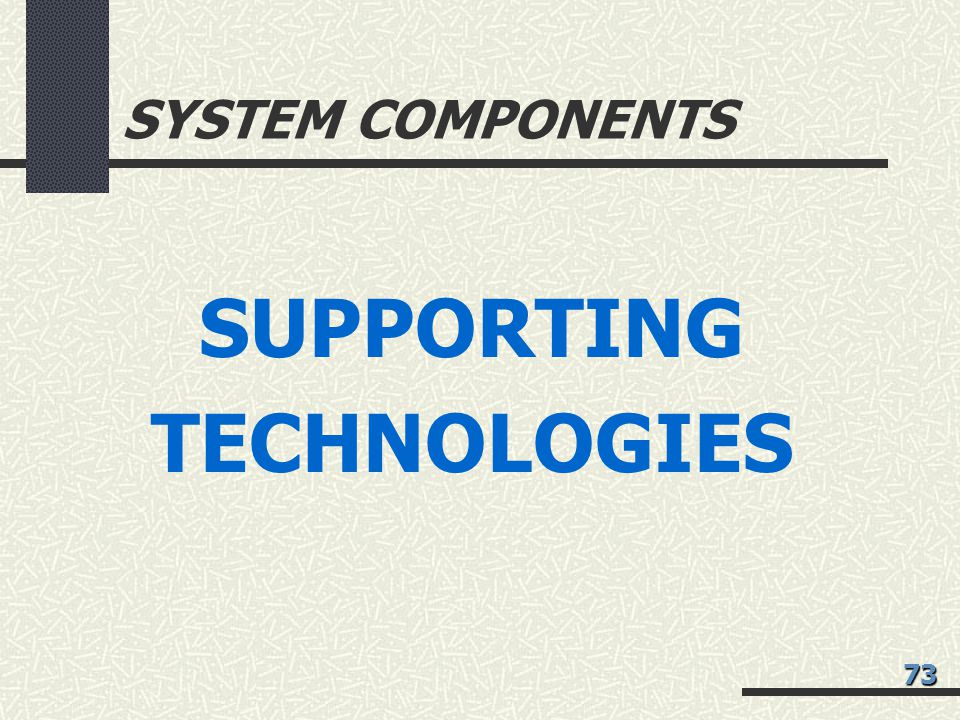 SUPPORTING TECHNOLOGIES
