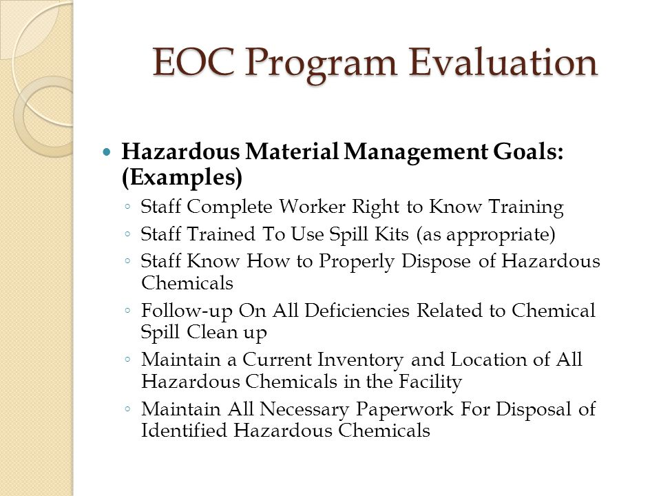 Annual Evaluation Of The Environment Of Care Eoc Program  Ppt