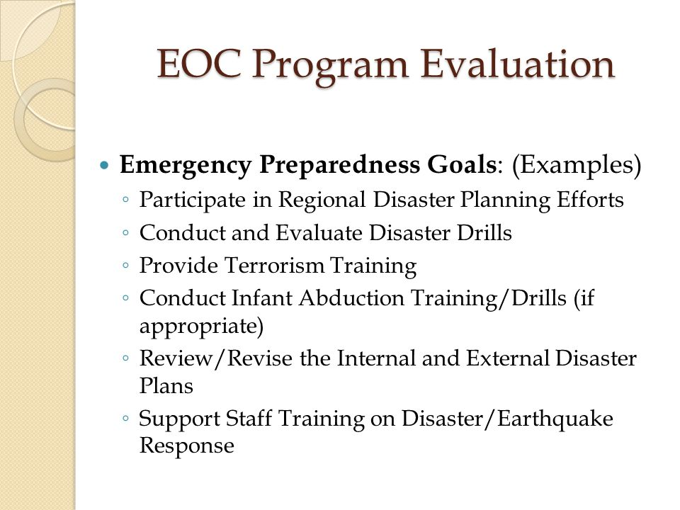 EOC Program Evaluation