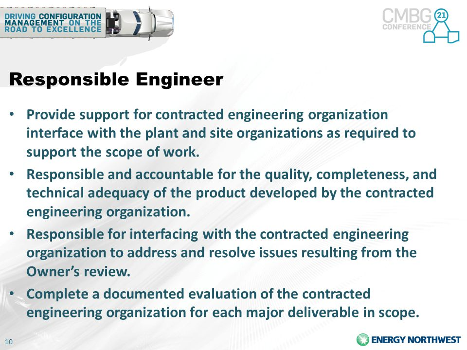 Responsible Engineer