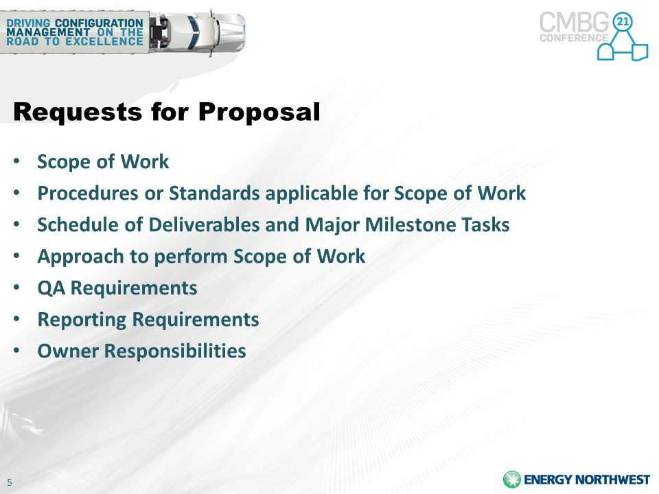 Requests for Proposal Scope of Work