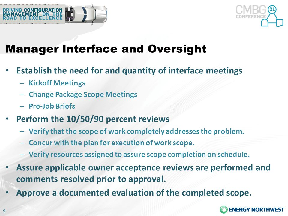 Manager Interface and Oversight
