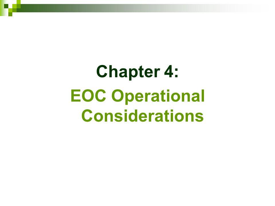 EOC Operational Considerations