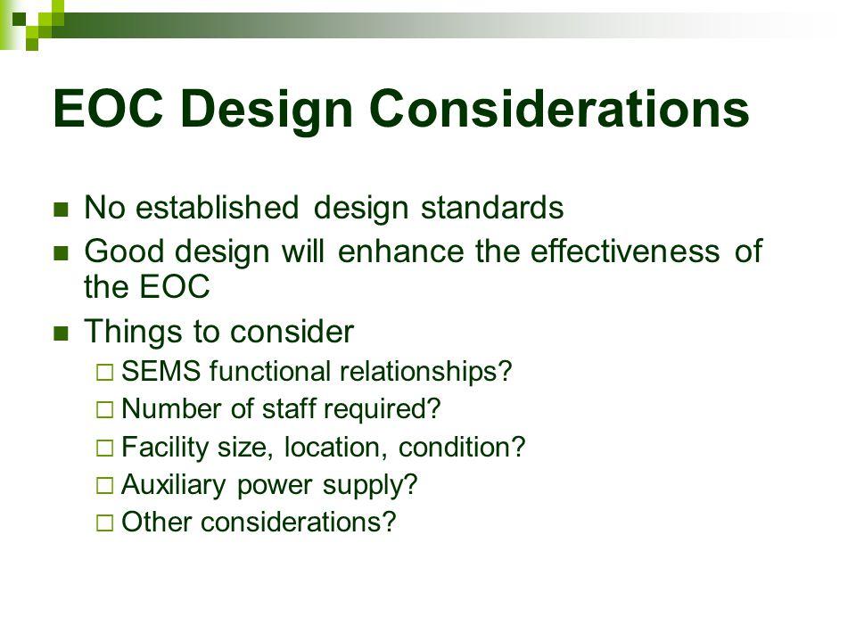 EOC Design Considerations