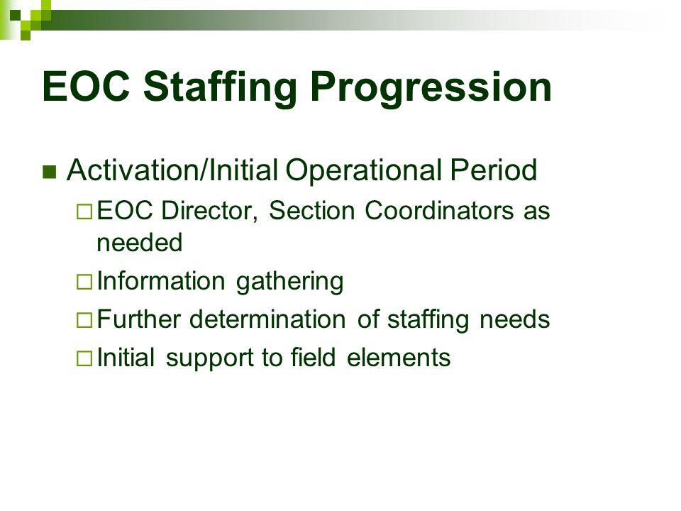 EOC Staffing Progression