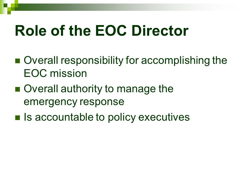 Role of the EOC Director
