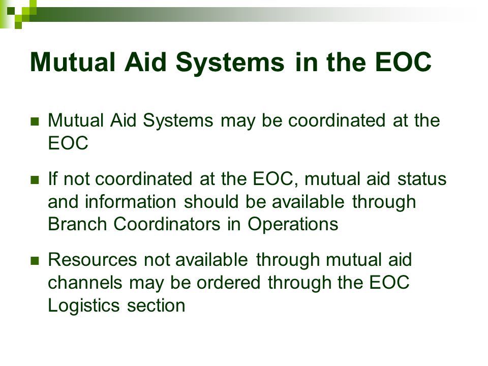 Mutual Aid Systems in the EOC