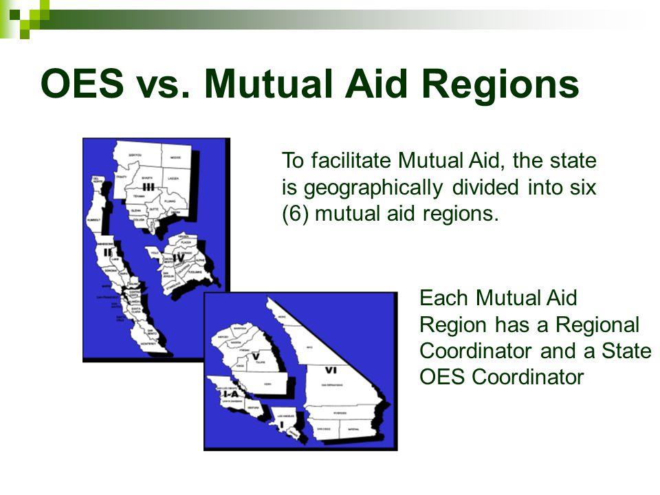OES vs. Mutual Aid Regions