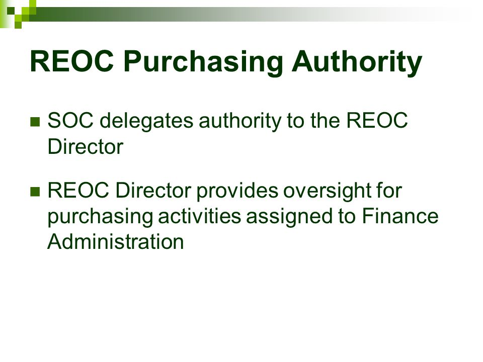 REOC Purchasing Authority