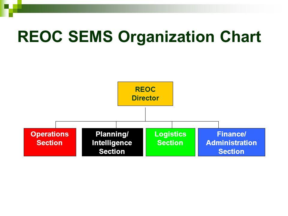 REOC SEMS Organization Chart