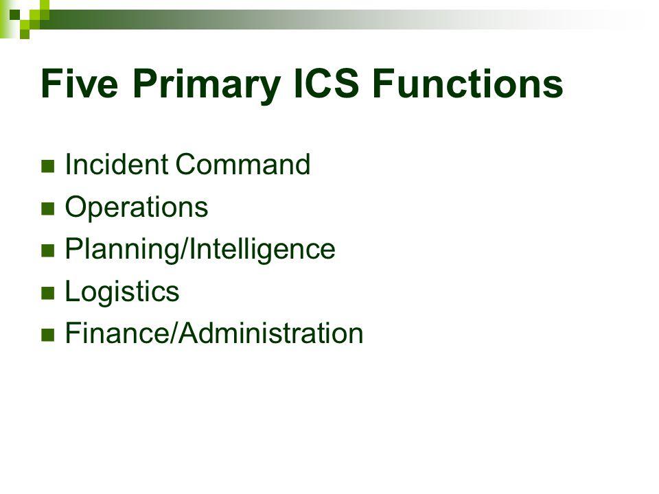 Five Primary ICS Functions