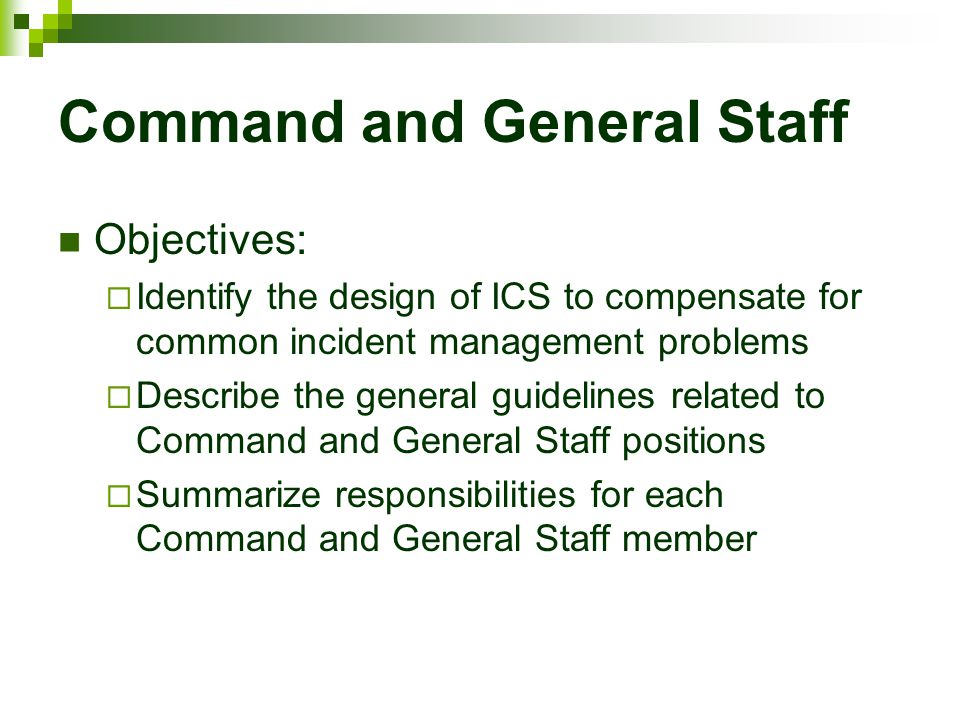 Command and General Staff