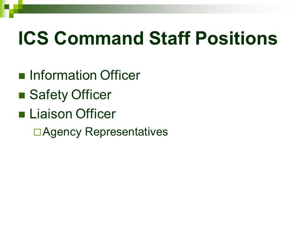 ICS Command Staff Positions