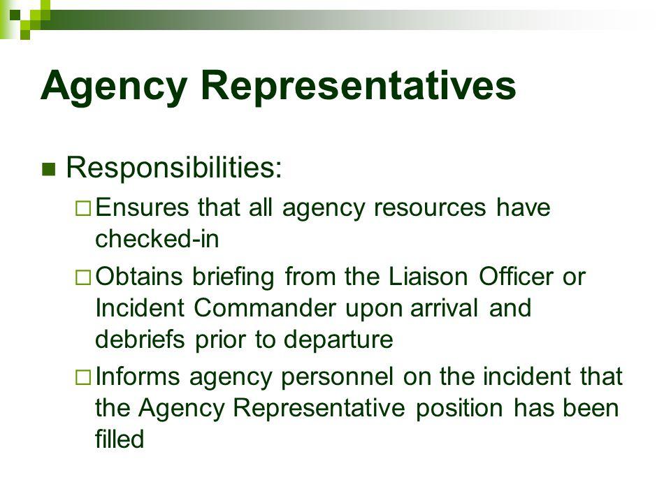 Agency Representatives