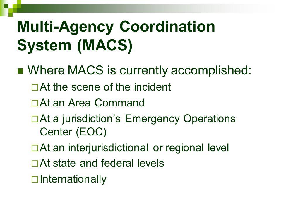 Multi-Agency Coordination System (MACS)