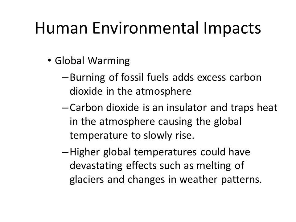 Human Environmental Impacts