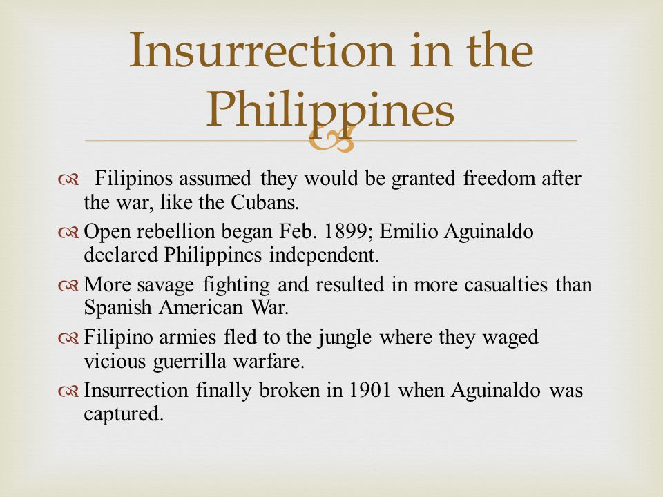 Insurrection in the Philippines