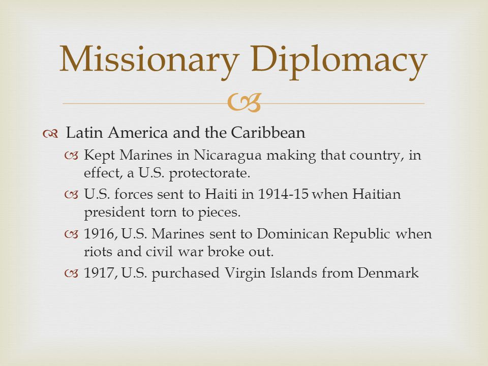 Missionary Diplomacy Latin America and the Caribbean