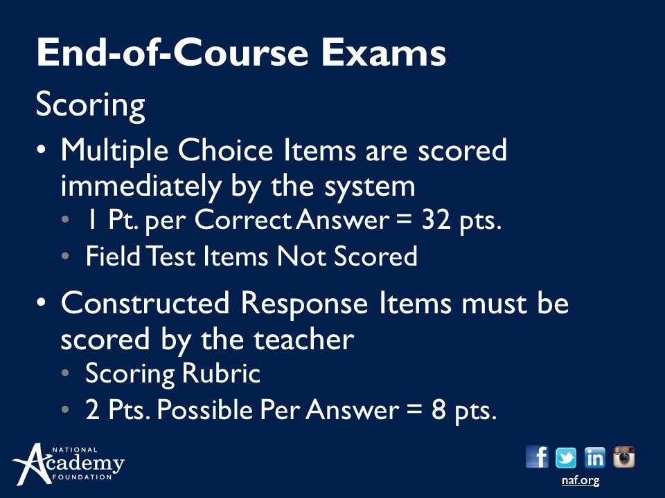 End-of-Course Exams Scoring