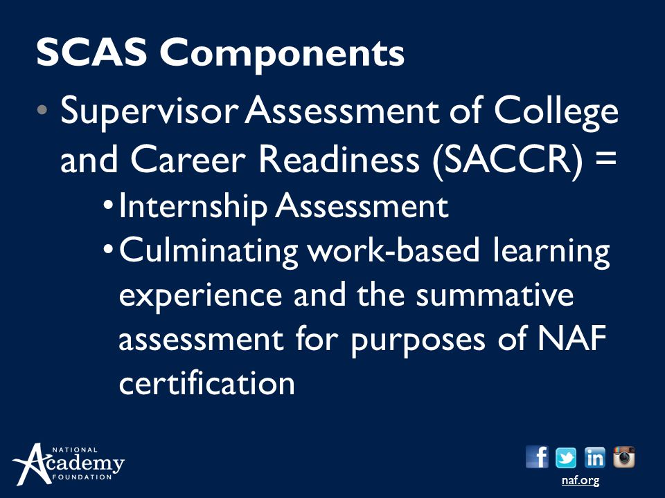 Supervisor Assessment of College and Career Readiness (SACCR) =