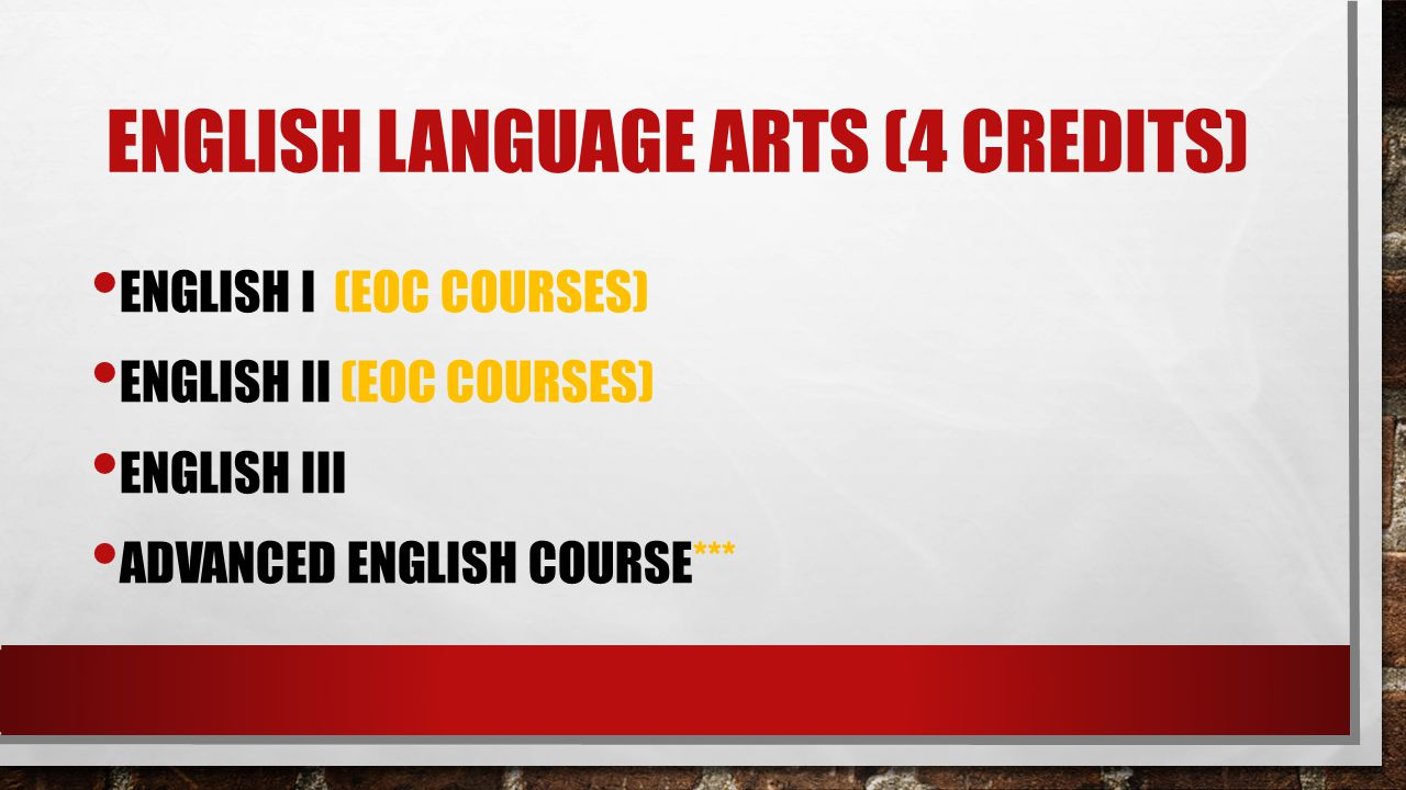 English language arts (4 credits)
