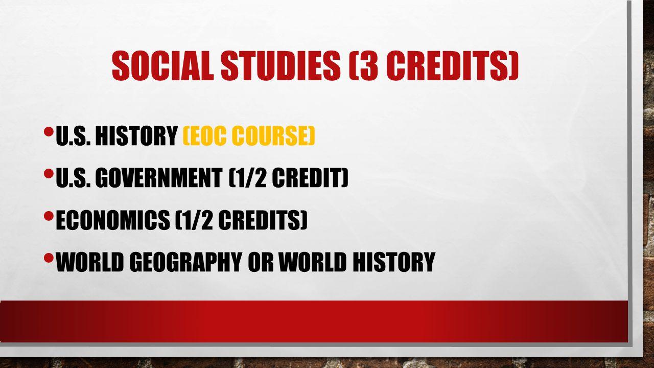 Social studies (3 credits)