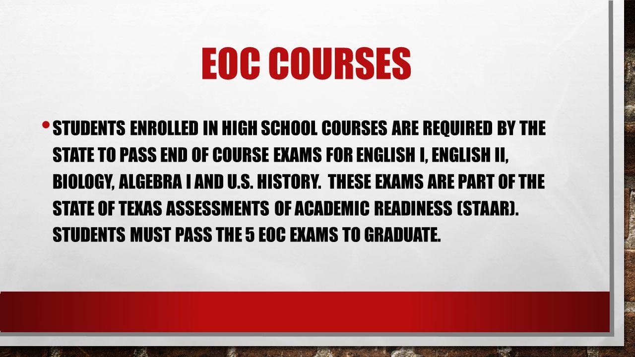 Eoc courses