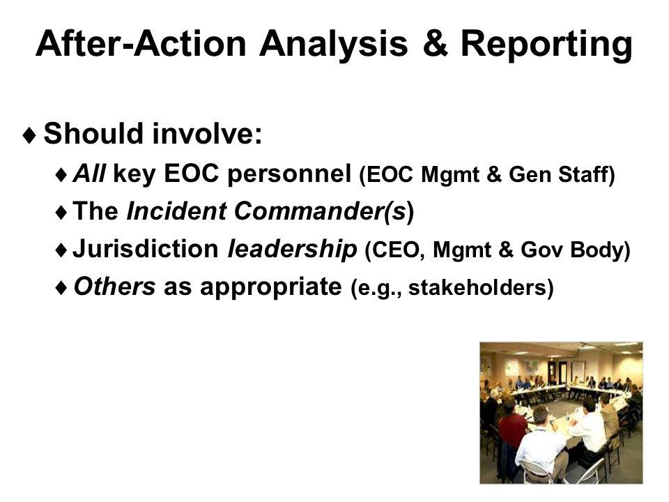 After-Action Analysis & Reporting
