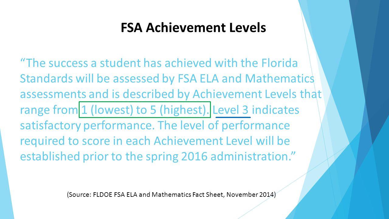 FSA Achievement Levels