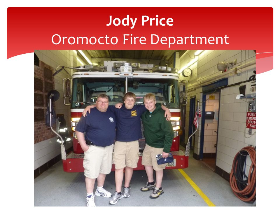 Jody Price Oromocto Fire Department