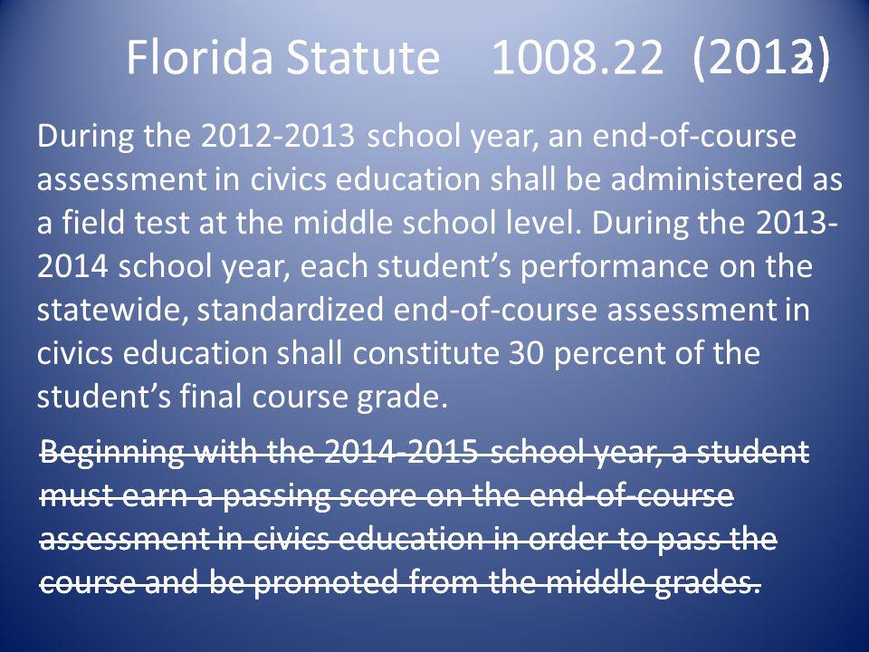 Florida Statute 1008.22 (2013) (2012)
