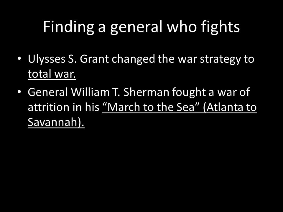 Finding a general who fights